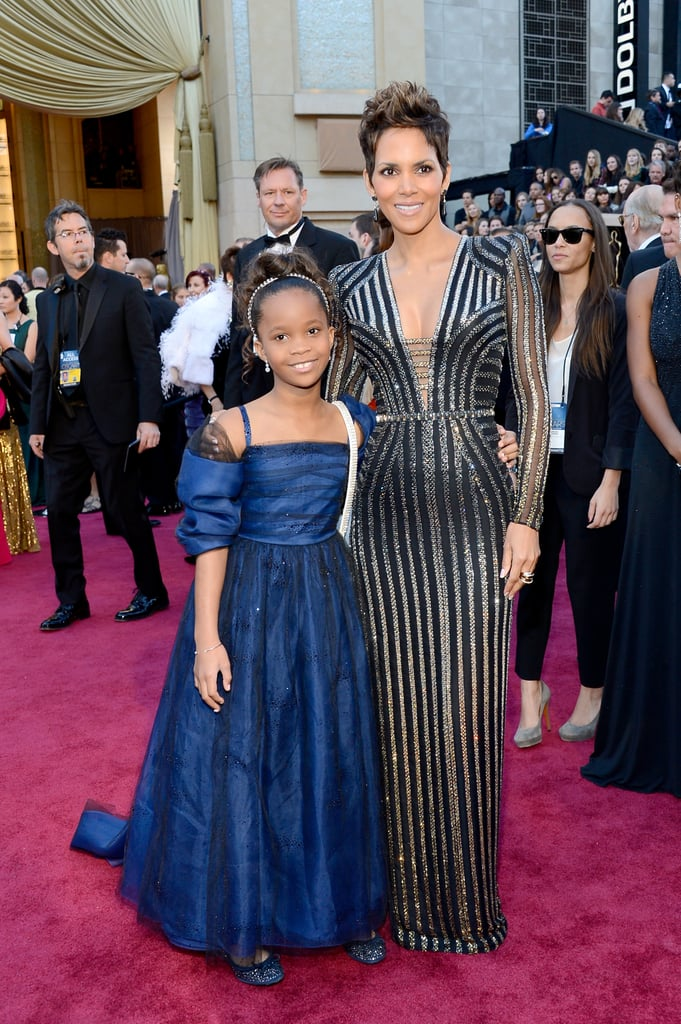 Halle Berry linked up with Quvenzhané Wallis on the Oscars red carpet.