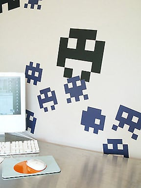 Let 8-Bit Decals Invade Your Workspace