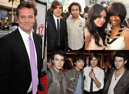 Photos of Matthew Perry, Zac Efron, the Jonas Brothers, Vanessa Hudgens, Corbin Bleu, Seth Green & More At US 17 Again Premiere