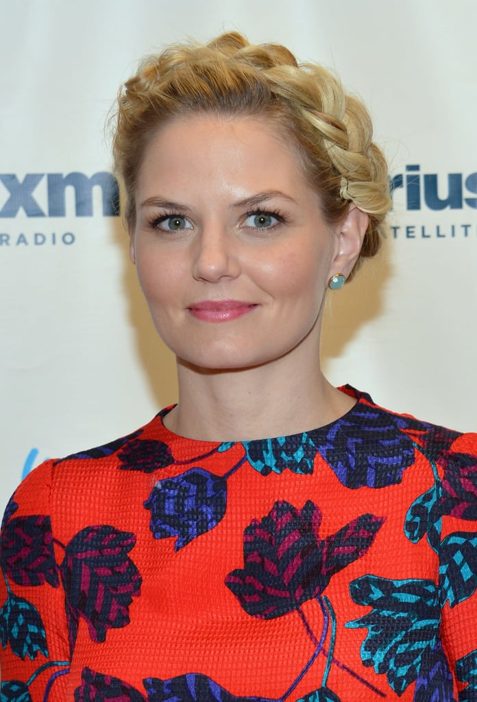 A fully connected crown braid on Jennifer Morrison was a sleek and elegant way to wear plaits this Fall.