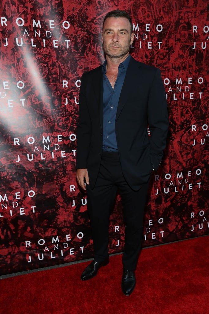 Liev Schreiber turned up to show support for the Broadway play.
