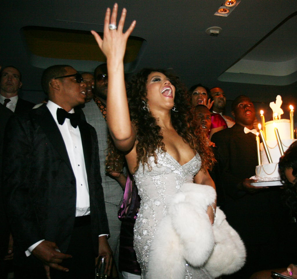 Jay-Z and Beyoncé celebrated the opening night of his Las Vegas 40/40 Club in December 2007.