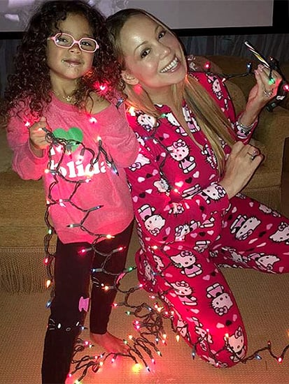 Mariah Carey Celebrates Second Christmas - Complete With Presents Under a Fully Decorated Tree - During Winter Storm