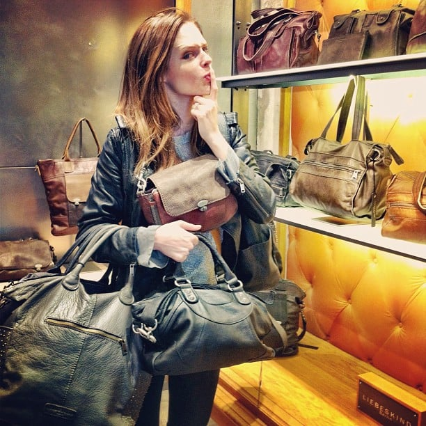 Coco Rocha had some trouble choosing a handbag. Source: Instagram user cocorocha