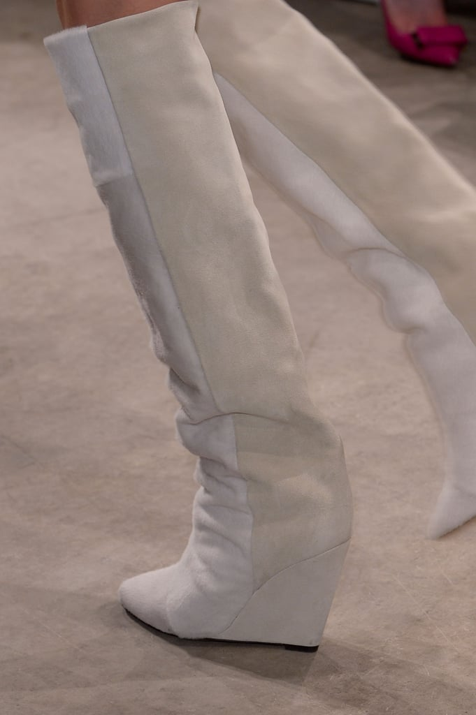 The tall boot appeared in fresh white, too.