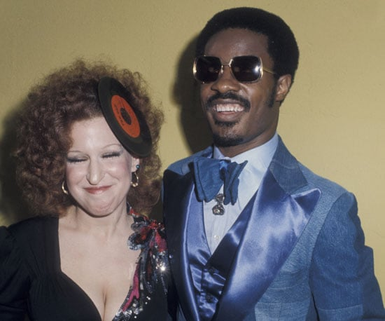 Stevie Wonder and Bette Midler were dressed for the decade in 1975.