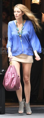 Blake Lively Carries Yves Saint Laurent Bag in NYC