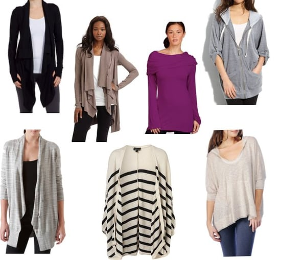 Draped Cardigans and Tops to Wear to Yoga