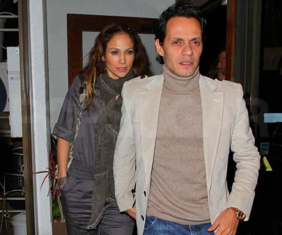 Slide Photo of Jennifer Lopez and Marc Anthony At Dinner in Beverly Hills