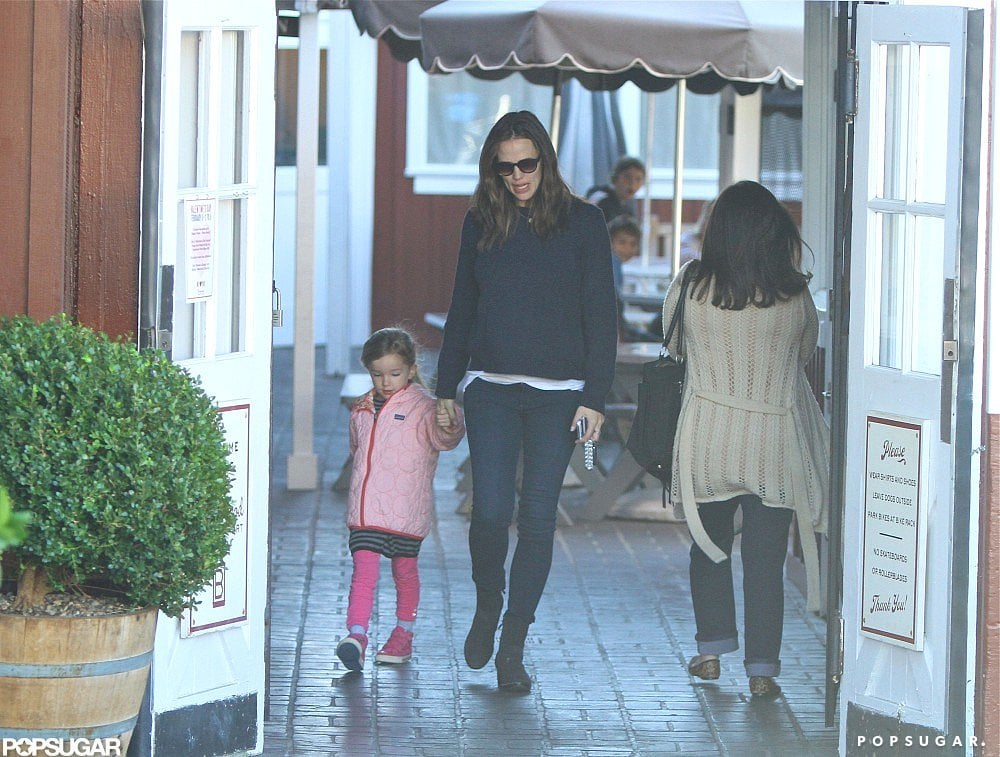 Jennifer Garner held Seraphina's hand for a breakfast stop at Brentwood Country Mart.