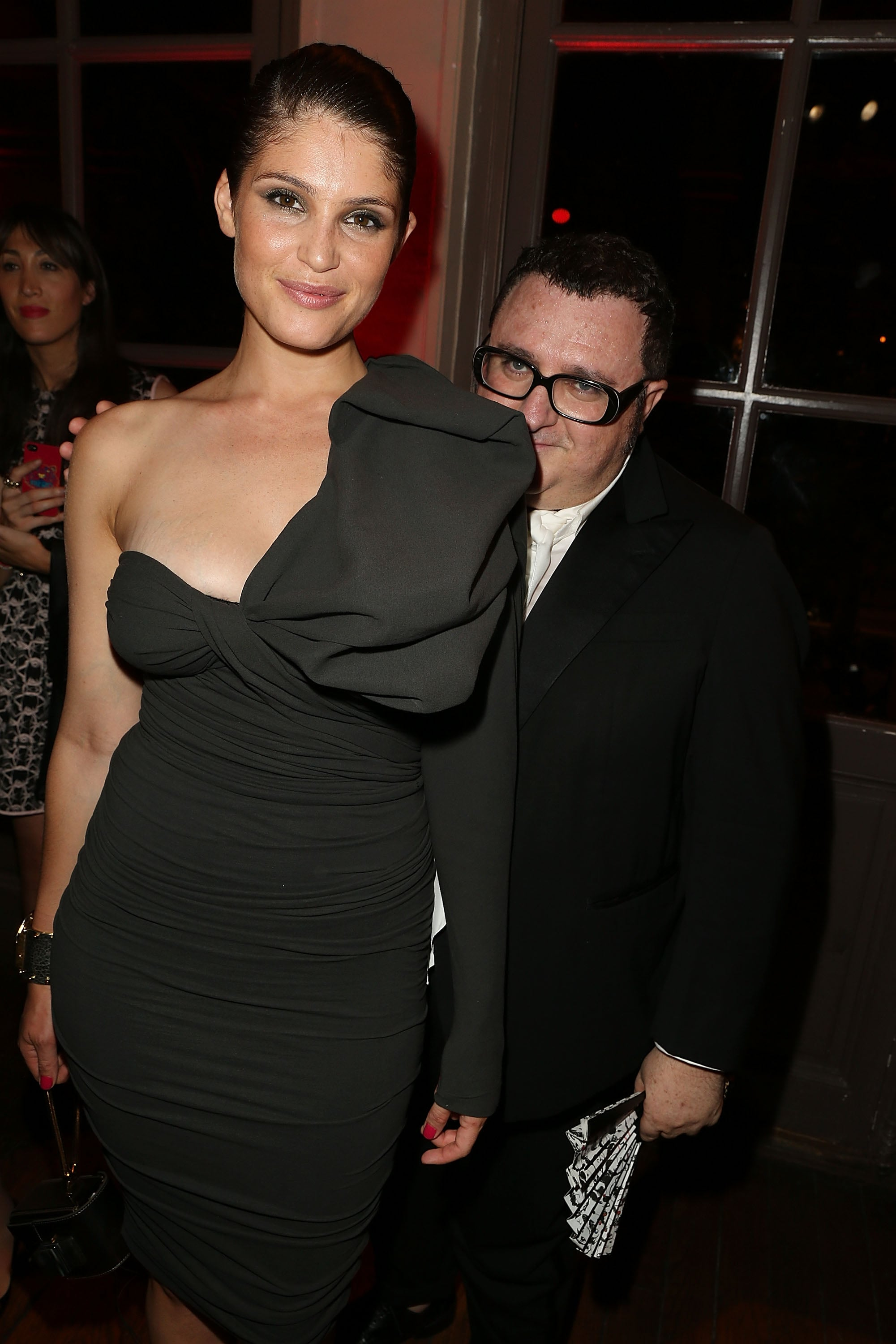 Peekaboo, we see you, Alber Elbaz — though Gemma Arterton's bow does make for crafty camouflage.