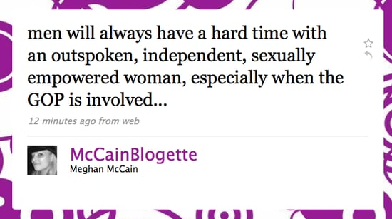 Tweet Nothings! Men Have a Problem With Meghan McCain