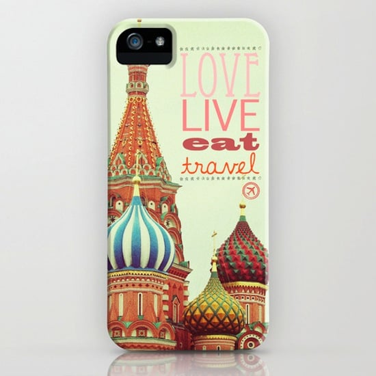 You can never go wrong with the message of this iPhone case ($35) to love, live, eat, and travel.