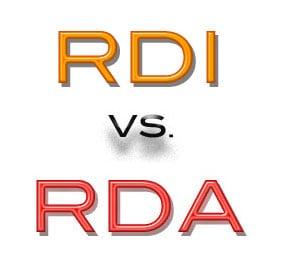 RDI vs. RDA