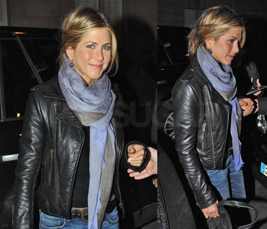 Photos of Jennifer Aniston Going to Dinner in Paris