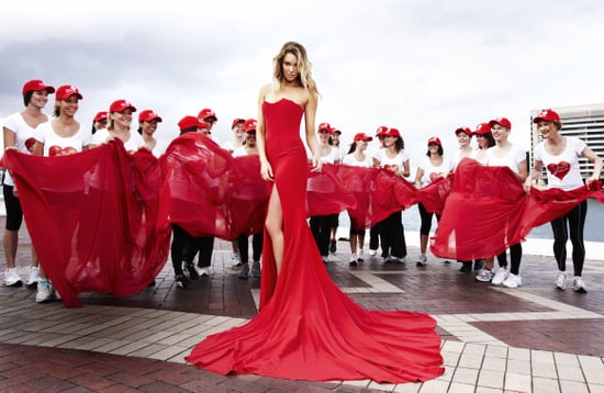 Megan Gale, Jennifer Hawkins and Australian Celebrities Wear Red For Marie Claire Magazine July Issue