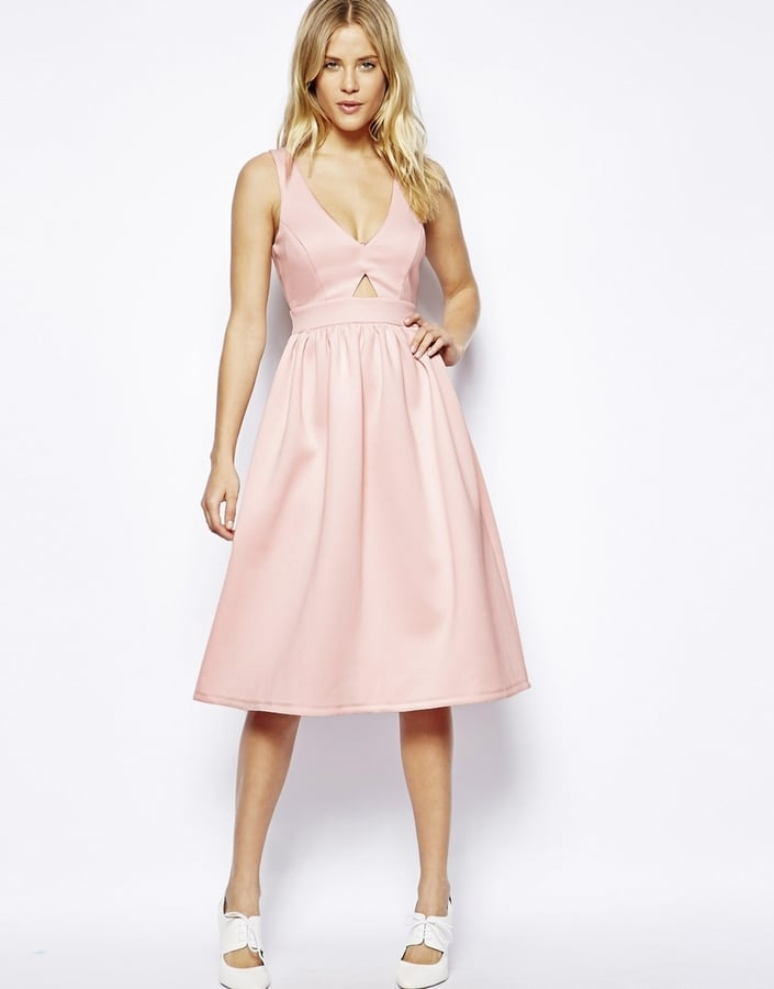 ASOS Cutout Midi Dress