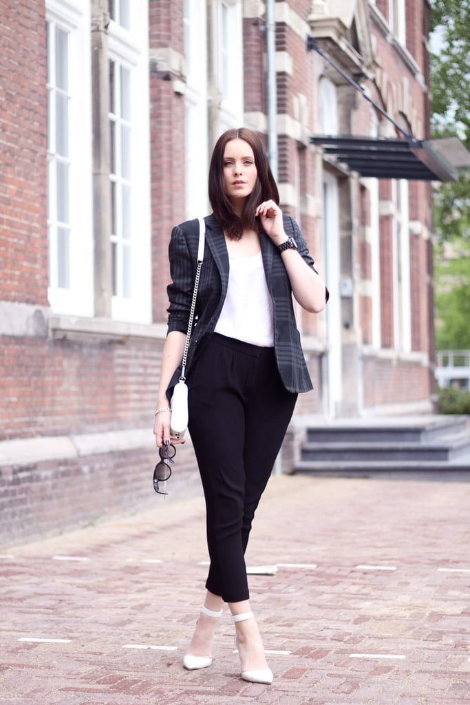 You might have done the boyfriend and blazer thing through the Fall, but with a pair of white heels, the look is totally fresh for Spring and Summer. Source: Lookbook.nu