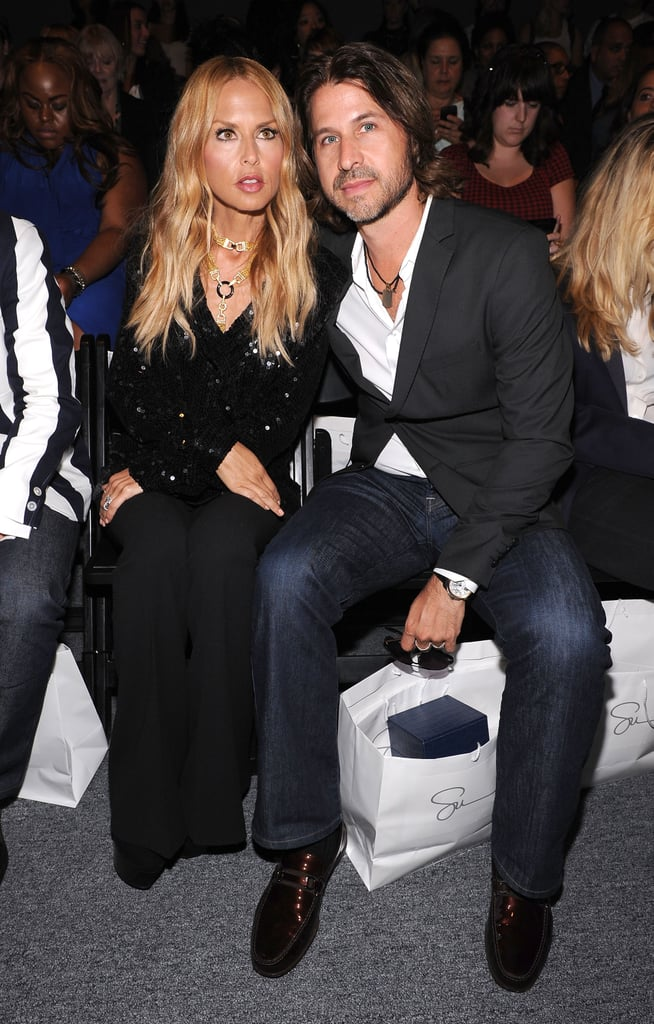 Rachel Zoe and hubby Rodger Berman took front row at the Supima Spring show.