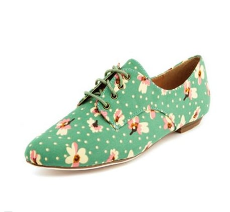 These Charlotte Russe Ditsy Floral Oxfords ($23, originally $29) are a nice way to inject some Spring fun into your cold-weather wardrobe.