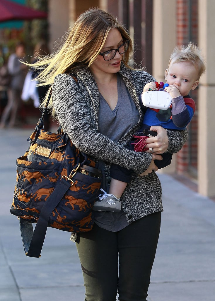 Hilary Duff was spotted taking Luca to a doctor's office.