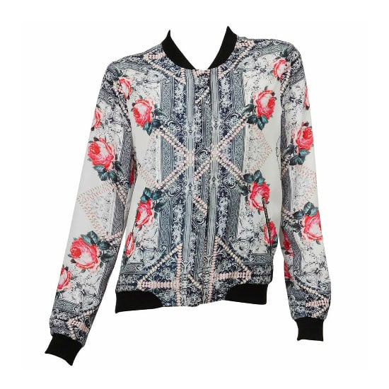A Printed Silk Bomber