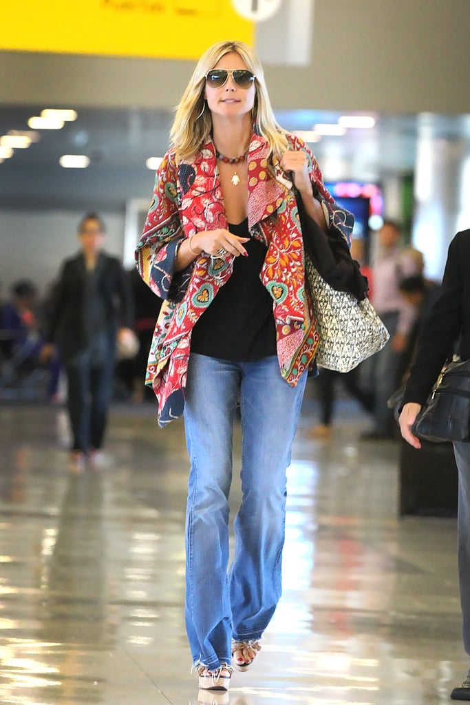 Heidi Klum Touches Down in NYC With a Big Smile Despite Seal's Comments