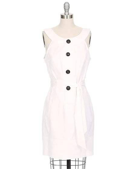 If you want to draw out your weekend in white, then look for an understated little shift like this for the next day. This sophisticated sheath would work easily at brunch the following morning and on to the airport for your honeymoon.  Dsquared Button-Down Tank Dress ($724)