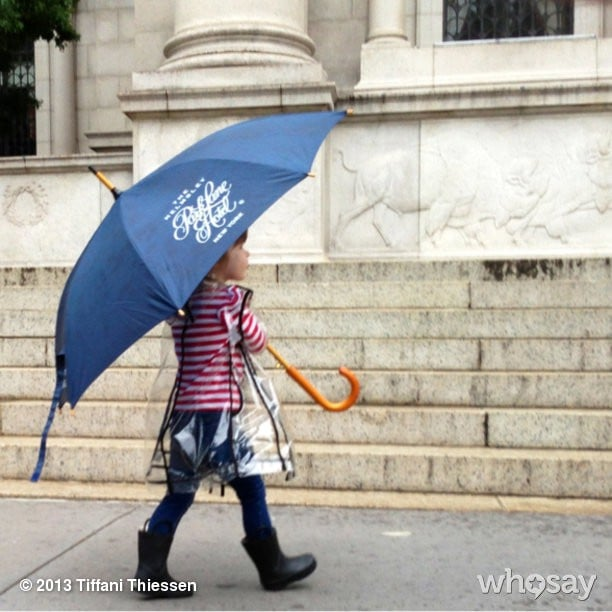 Harper Smith was prepared for the impending rain in NYC this week. Source: Instagram user tathiessen