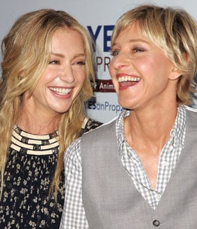 Photo of Ellen DeGeneres and Portia de Rossi, California's Same-Sex Marriage Ban Proposition 8 Looks Like It's Passing
