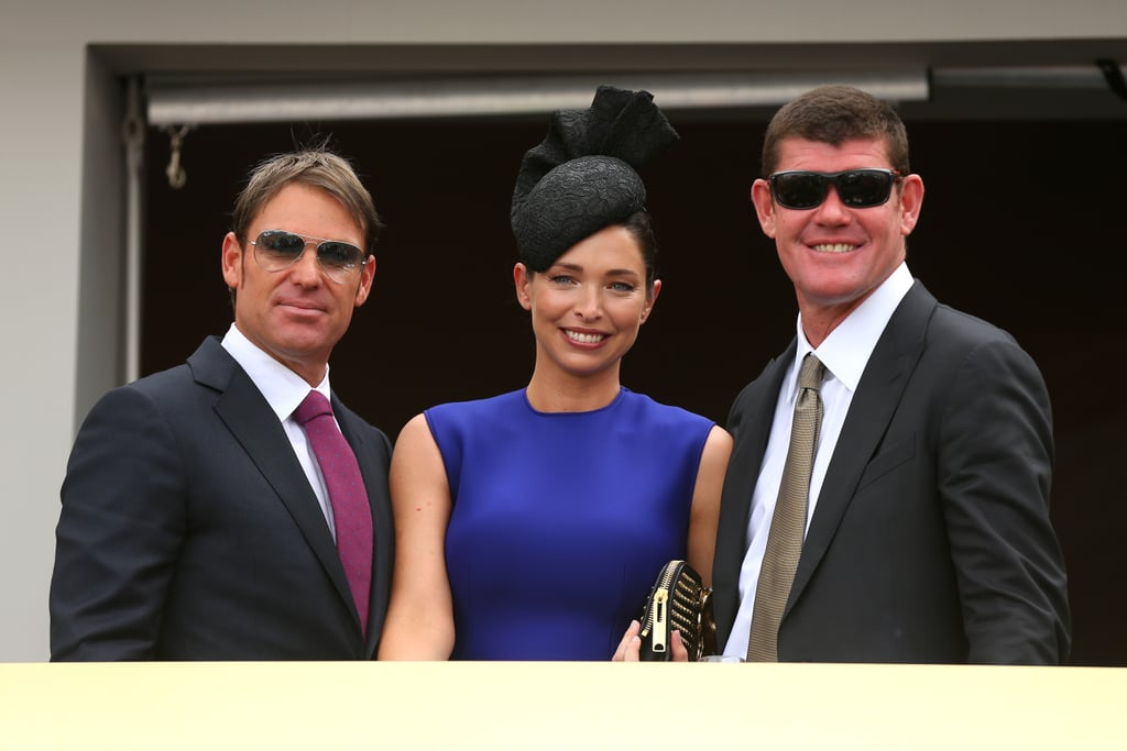 Shane Warne, Erica and James Packer