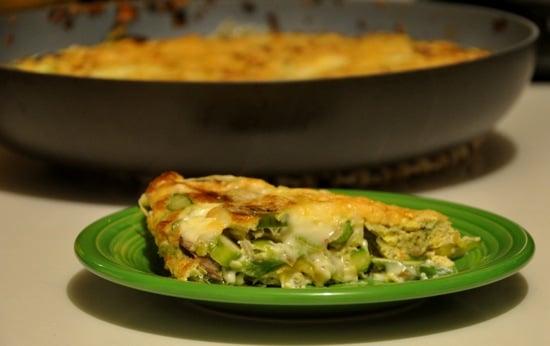 Eggcellent Frittata With Asparagus, Leeks, Mushrooms