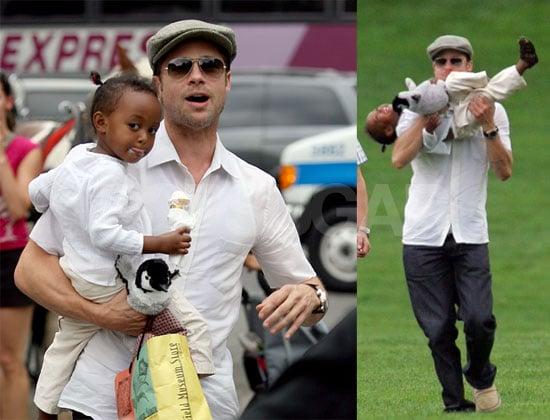 Zahara Takes Brad Dad Out For Ice Cream & Fun
