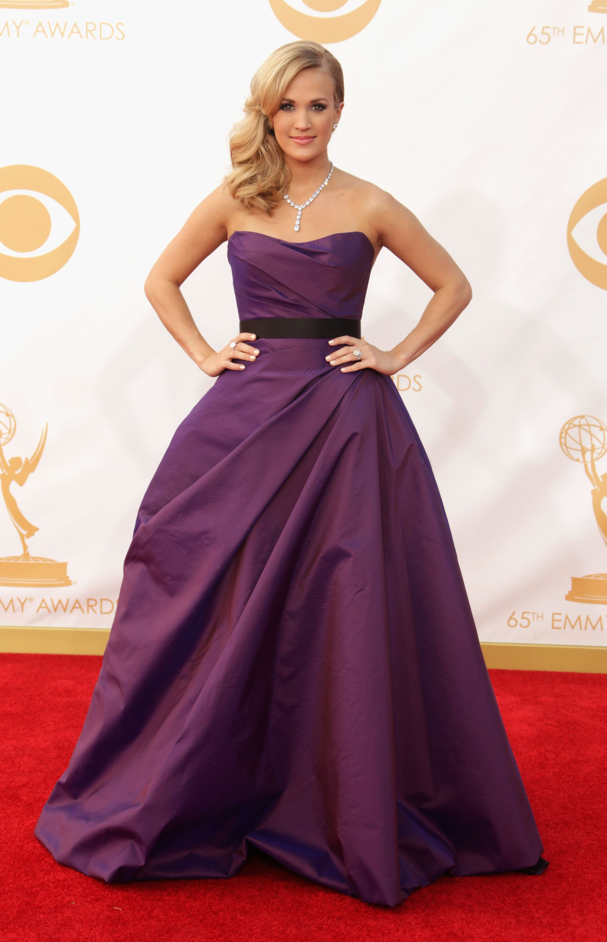 It was full glamour for Carrie Underwood, who picked a ball gown by Romona Keveza.