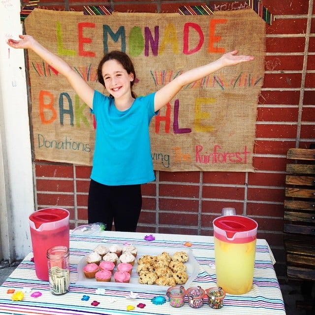 Soleil Moon Frye's daughter Poet sold lemonade, cookies, and cupcakes to help save the rainforest.   Source: Instagram user moonfrye