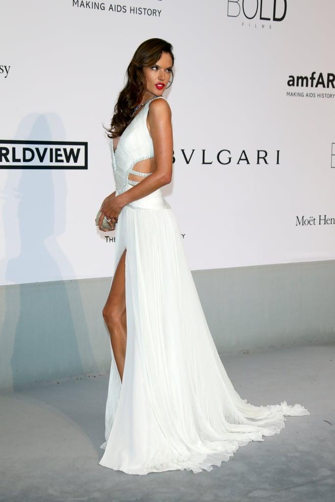 Alessandra Ambrosio showed some leg.