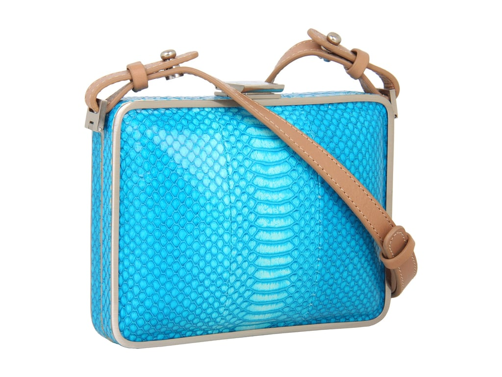 There are times to go with practical buys and there are times to snag something because it's simply too pretty not to. Such is the case with Foley + Corinna's electric-turquoise bag ($238, originally $395). The hard case smartly holds its shape, no matter what's inside: stash as little as a credit card and lip balm and go.