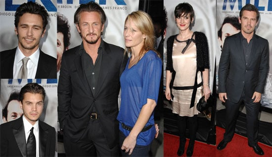 Photos of James Franco, Emile Hirsch, Sean Penn, Elizabeth Banks, Josh Brolin, Winona Ryder at the LA Premiere of Milk
