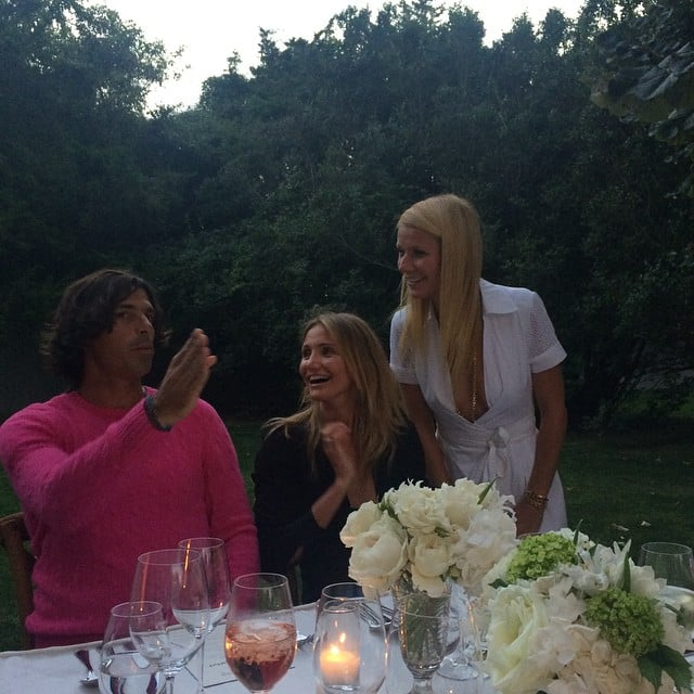 Cameron and Gwyneth were captivated by polo player and Ralph Lauren  model Nacho Figueras at an event celebrating Goop's collaboration with DVF. Gwyneth hosted the event at her home in East Hampton, NY, in late August.