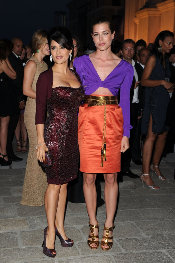 Salma Hayek and Charlotte posed together in Venice, Italy, in June 2011.
