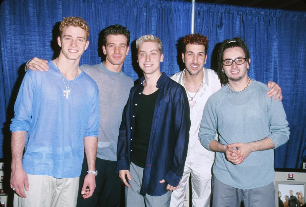 Here are all the guys — plus Justin's see-through shirt.