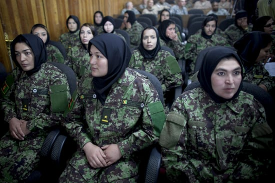 Pictures of Women Soldiers' Graduation in Afghanistan