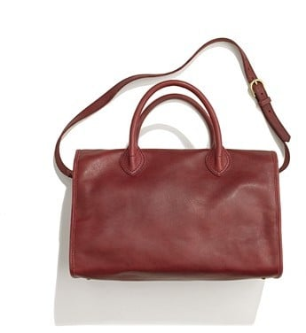 We love the rich shade of oxblood on this bag, and the silhouette is timeless and versatile. Madewell The Camden Satchel ($228)