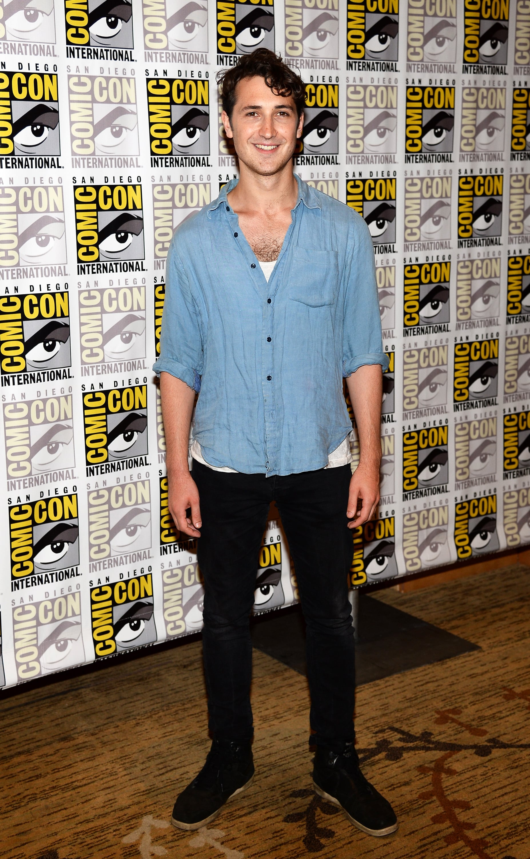 Ben Lloyd-Hughes at the Divergent and Ender's Game press line.