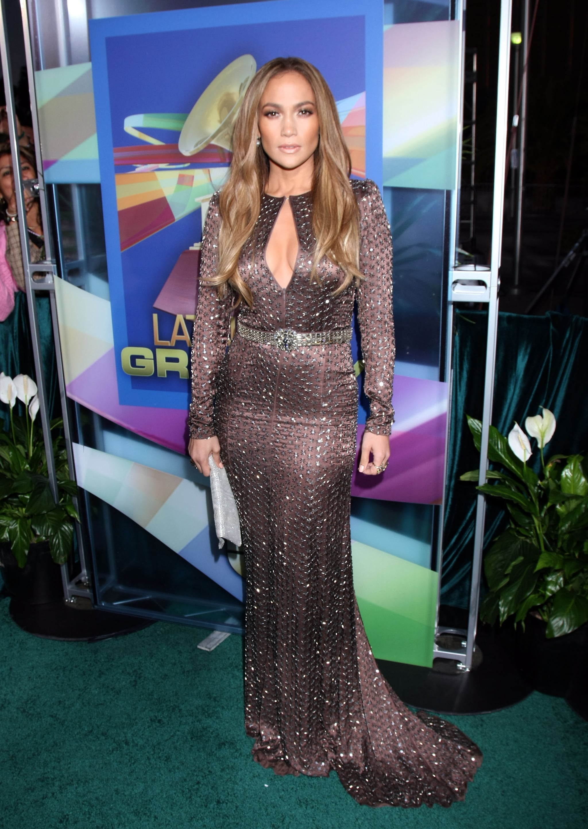 A diva moment in a key-hole cutout Andrew Gn gown at the 2010 Latin Grammy Awards.