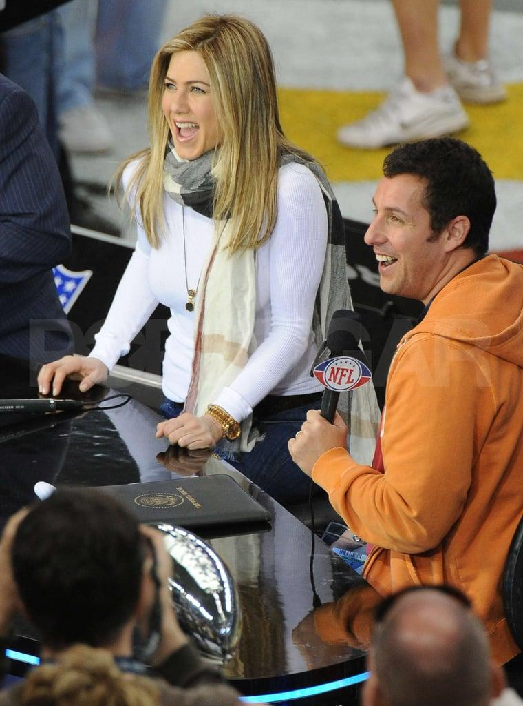 Jennifer Aniston Gets in the Super Bowl Spirit in Texas!