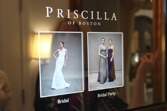 Photos of the HP TouchSmart Screen and Priscilla of Boston App