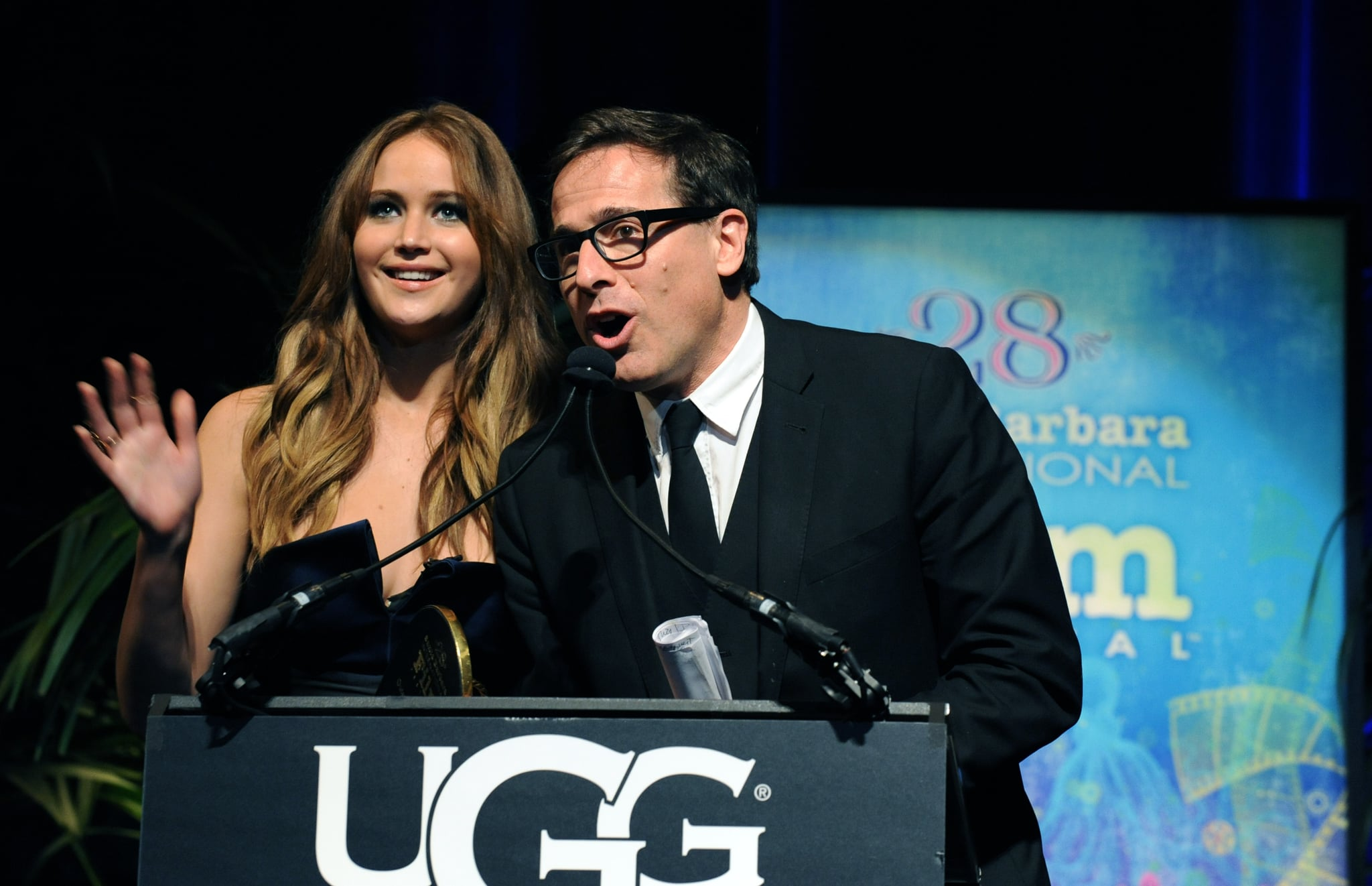 Jennifer Lawrence and David O. Russell took the stage together at the Santa Barbara International Film Festival in February.