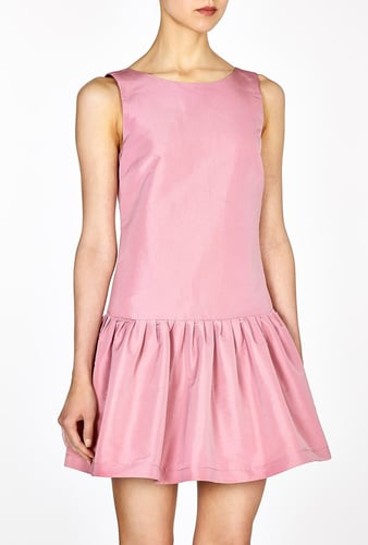 Red Valentino Pink Full Skirt Dropped Waist Dress