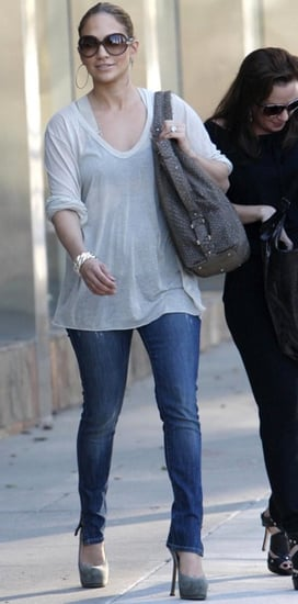 Jennifer Lopez Spotted in Slit Jeans While in LA